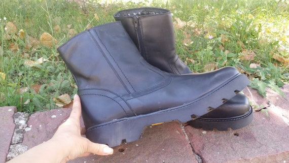 Leather boots, Mens combat boots, Military boots,