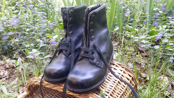 Vintage military boots, Leather boots, Combat boot