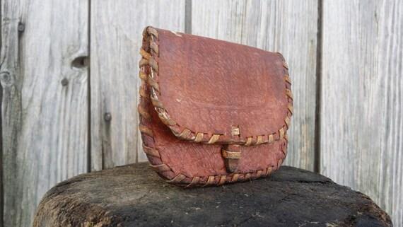 Cuir sac à main, portefeuilles en cuir, Vintage sac à main, pinces, porte monnaie, porte-monnaie, porte monnaie en cuir marron, en cuir véritable.