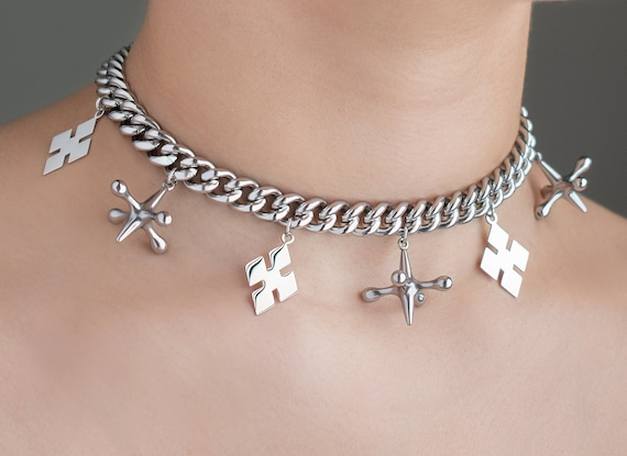 Harley Quinn Birds Of Prey Jacks And Diamonds Choker Necklace Etsy