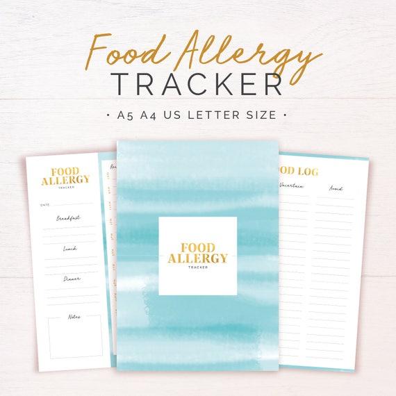 Food Allergy Tracker Intolerances Diary