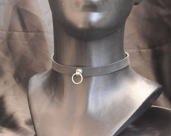 Collar collar choker mod. Slim-O Leather