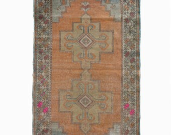 Large Turkish Oushak Rug Turkish Hallway Runner Rug FREE SHIPPING! / 4'7''x9'ft