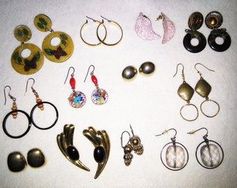 12 Pair Pierced Earring Collection