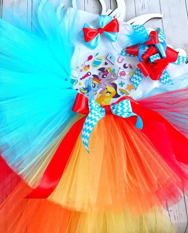 fa9465977a30 My little pony tutu rainbow birthday tutu outfit costume | Etsy