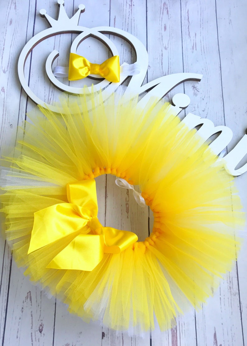 ef4ebea15c Yellow tutu skirt newborn tutu yellow skirt europe extra puffy | Etsy
