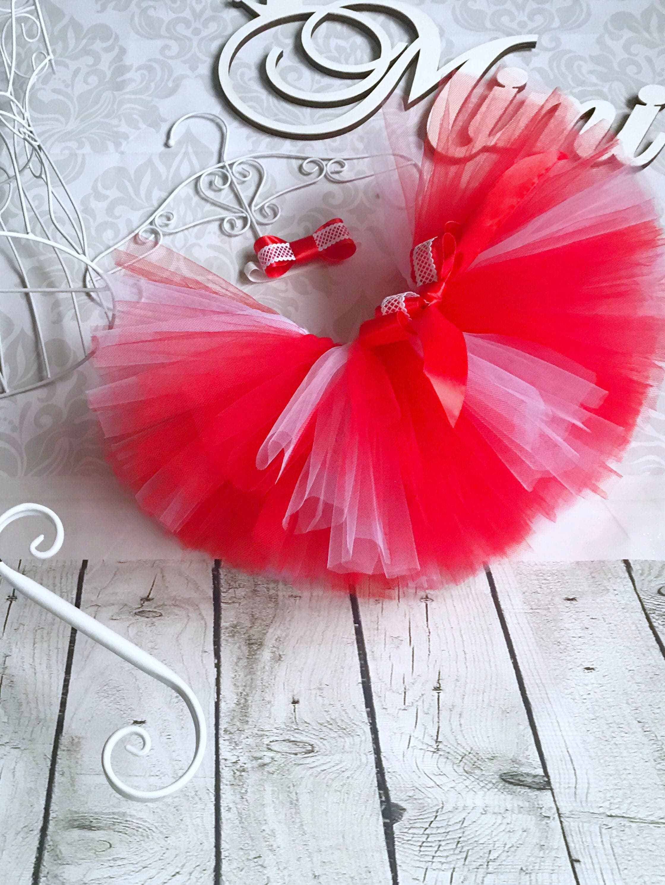 0df89ebedf Red tutu skirt birthday tutu red white tulle skirt extra fully | Etsy