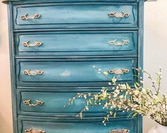 Custom Painted Dresser