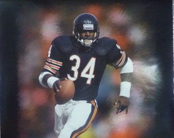 1993 Walter Payton - Ford - Hall of Fame Poster