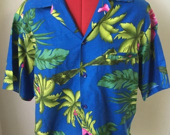 13af6509ded Vintage Hilo Hattie Hawaiian Button Up Shirt
