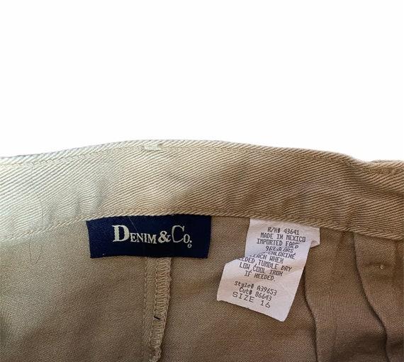 Vintage 1990s Tan Denim Maxi Skirt - image 3