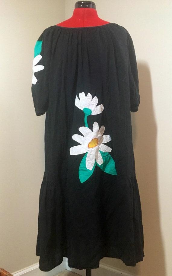 1970s Appel Brand Flower Dress