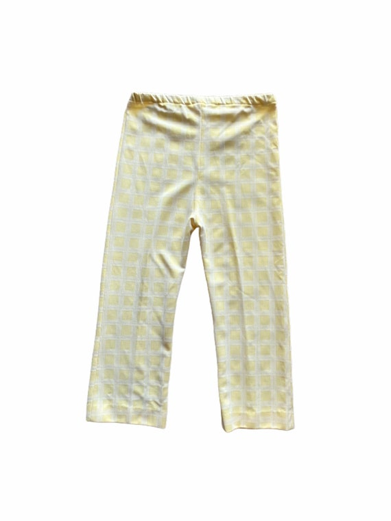 Vintage Handmade 1970s Yellow and White Kitschy Pa