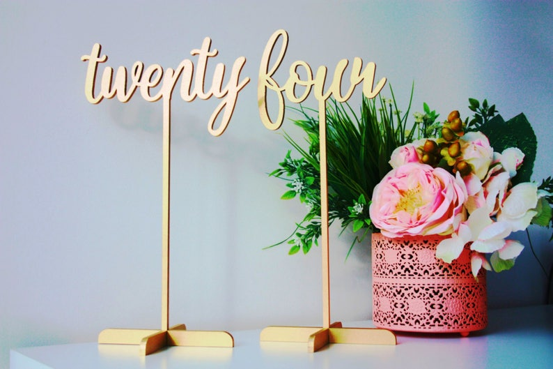 Table Numbers. Gold Table Numbers .Wedding Table Numbers-Table image 0