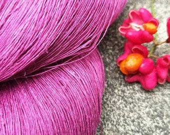 Linen yarn, natural linen, dyed linen, colorful linen, pure linen, linen, flax, dyed flax, knitting linen, crochet linen, linen skein,