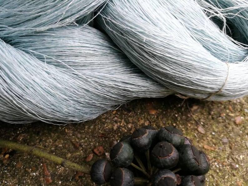 summer yarn Baltic linen natural linen knitting linen flax linen skein pure linen blue flax knitting yarns Blue linen spring yarn