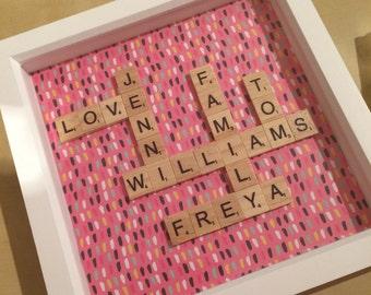 Personalised Scrabble Art