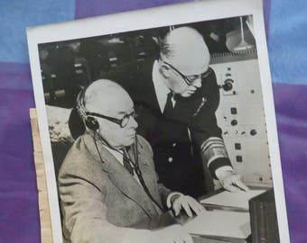 Hello World! 1953 US Defense Jim Creek Naval Radio Station New Radio Transmitter Photo