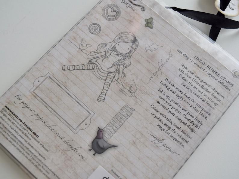 cardmaking New Santoro London Gorjuss On Top of the World  7-piece Urban stamp set journalling scrapbooking