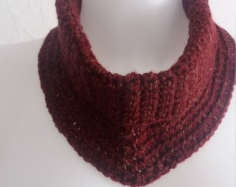 Burgundy red neck warmer cowl neck soft and cosy