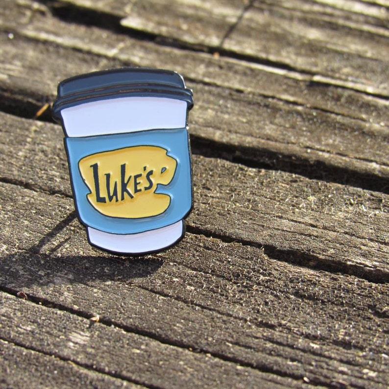 Luke's Diner Travel Mug 1 Soft Enamel Pin Gilmore image 0