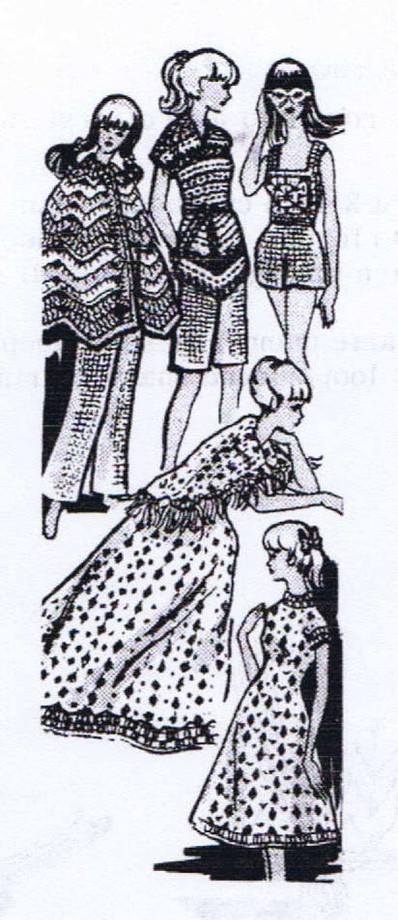 Crochet Patterns For Barbie Midge Teen Age Fashion Model Etsy