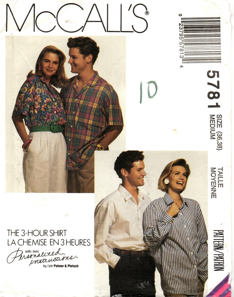 McCall/'s 6750 Easy Sewing Pattern to MAKE Fitted Shirt//Blouse Sleeve Variations