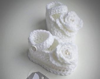 white baby girl sandals, white baby sandals, Baby Girl Shoes, Crochet Baby Girl Sandals, christening shoes, white shoes, baptism, wedding