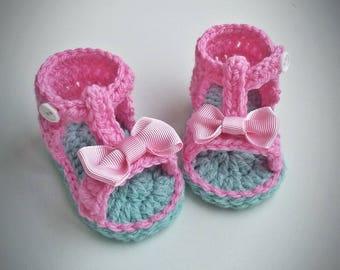 Crochet Baby Sandals Etsy