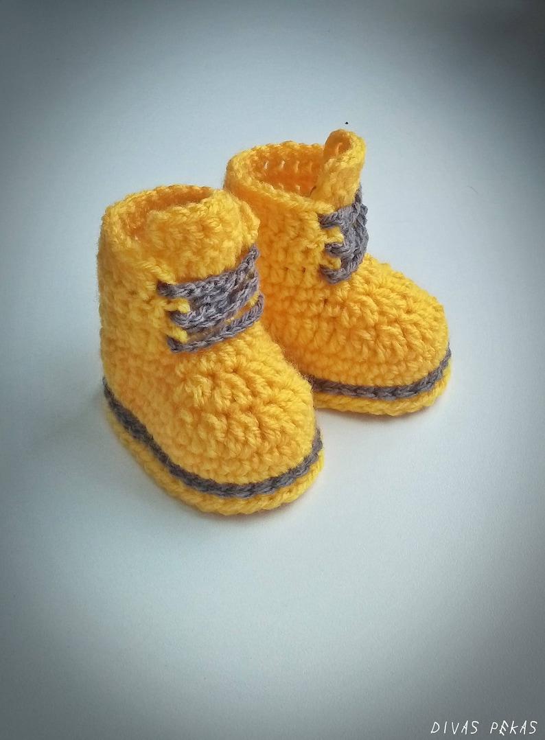 08cd1b797 Yellow baby unisex booties crochet baby booties unisex baby