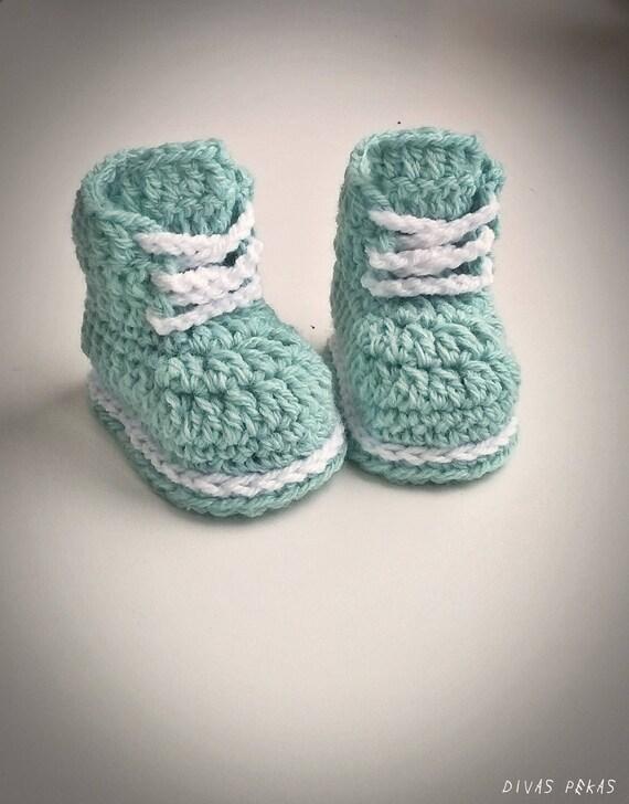 Häkeln Baby Schuhe Baby Boy häkeln Baby Booties, Mint grün Baby Booties Baby Dusche Geschenk