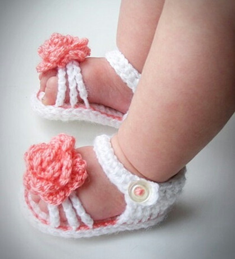 893011f1a2b5 Crochet baby girl sandals crochet baby girl shoes baby