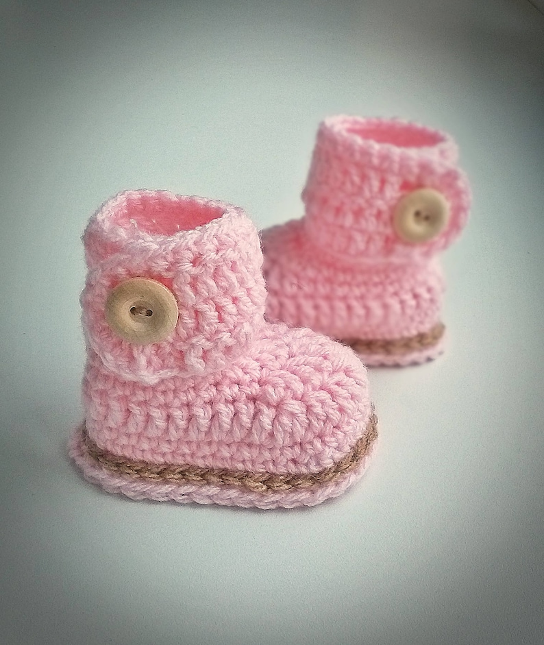 Baby Girl Booties Crochet Baby Girl Booties Crochet Baby Etsy