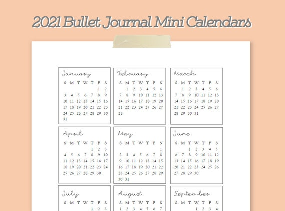 10 x 2021 A4 Calendar blanks White Mini Calender Year To View Make Your Own