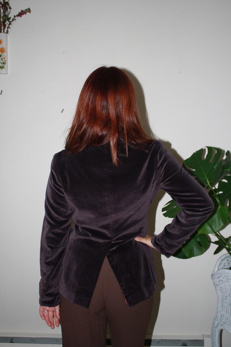 Vintage 1970s Velvet and Silk Purple Blazer  Sports Coat  Size Small