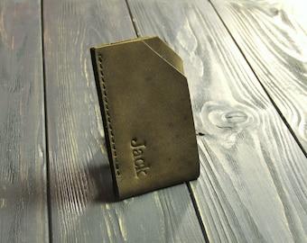 4f8d1de0ac9 De verjaardagsgiften van de voor mannen Slim Credit Card houder dun Front  Pocket portemonnee compacte Minimalist kaart leergeval heren portemonnee