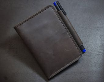 Leather Field Notes Cover Moleskine Cahier Notebook Pocket Cover Personalized FREE