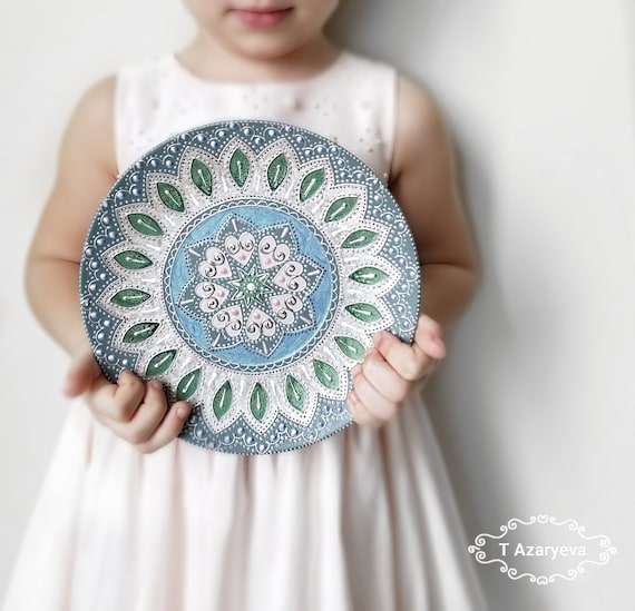 Mandala Decorative ceramic plate for hanging, Entryway wall decor, Wall art  plate, Birthday gift ideas, Christmas gift