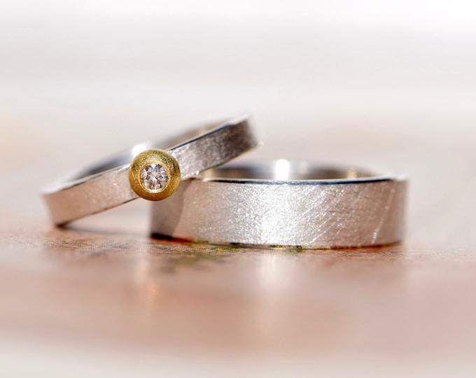 Trauringe Silber Gold Marlunajewellery