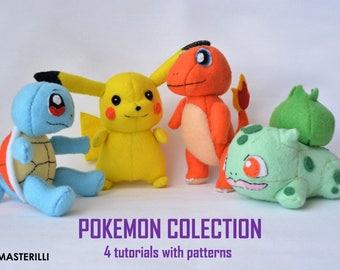 Pokemon toy sewing patterns kawaii pokemon collection pokemon gifts felt pokemons pokemongo pokemon pikachu felt toy patterns pdf diy toys