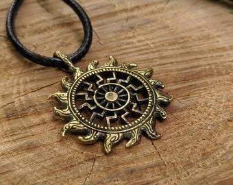 Lunula Mother Earth Norse Slavic Viking Necklace moon amulet talisman fertility