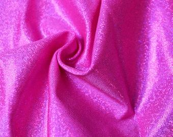 Lycra Hologram Fabric 4 Way Stretch Spandex - Fuchsia