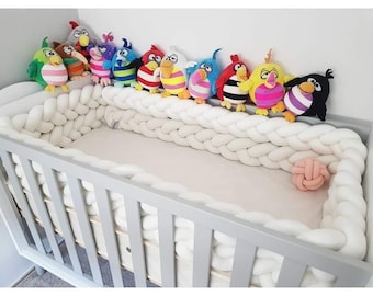 Braided cot bumber - express shipping!