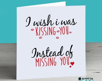 Long Distance Relationship Card Missing You Birthday Valentines Day Anniversary Love Husband Wife Boyfriend Girlfriend