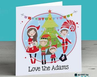 Family xmas card etsy personalised family christmas card xmas card family name m4hsunfo