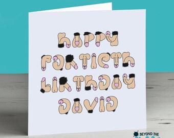 Rude Fortieth Birthday Card