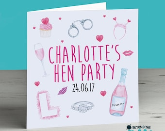Hen Party Personalised Card - Girls Weekend - Hen Do Card - Bride to Be - Engagement - Wedding - Hen Night