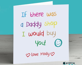Cute Daddy Birthday Card  - Daddy Father's Day Card - I Would Buy You