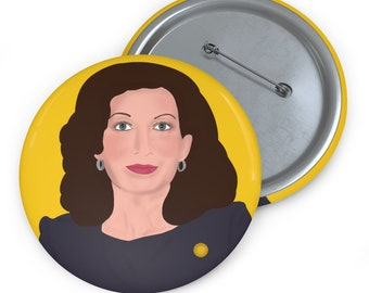 Kathy Hochul NY New York Governor Female Democrat Albany Buffalo Custom Pin Buttons