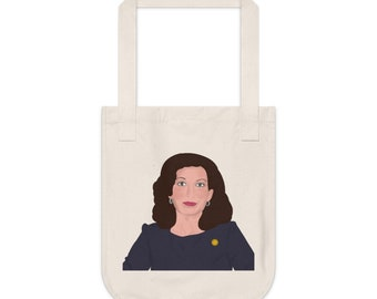 Kathy Hochul NY New York Governor Female Democrat Albany Buffalo Organic Double Sided Canvas Tote Bag
